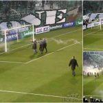 Adeptos invadem o relvado para atacar treinador português!