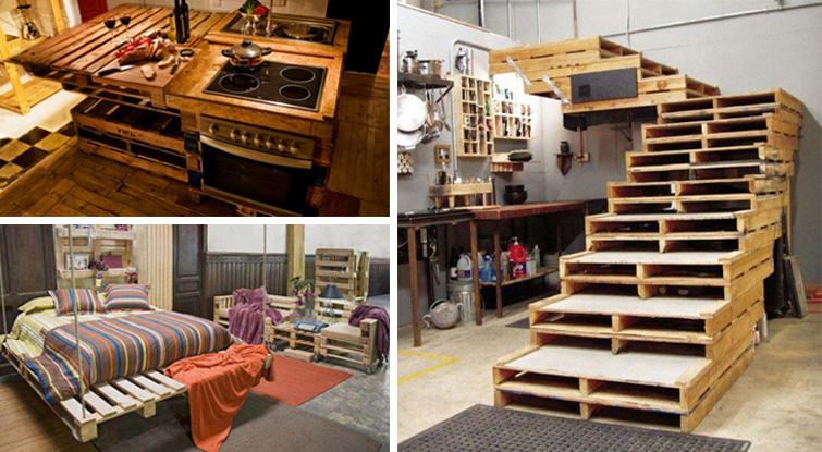 Ideias inovadoras para decorares a casa utilizando paletes velhas! Moderno e belo!