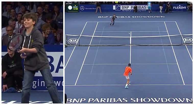 Menino de 12 anos elimina Roger Federer em apenas 4 jogadas!