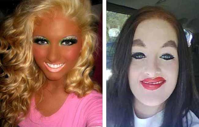 Estas mulheres falharam de forma impressionante na altura de se maquilharem!