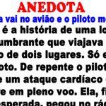 Anedota – A loira vai no avião e o piloto morre…
