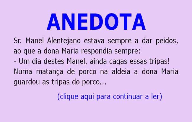 Anedota – Manel estava sempre a dar peidos