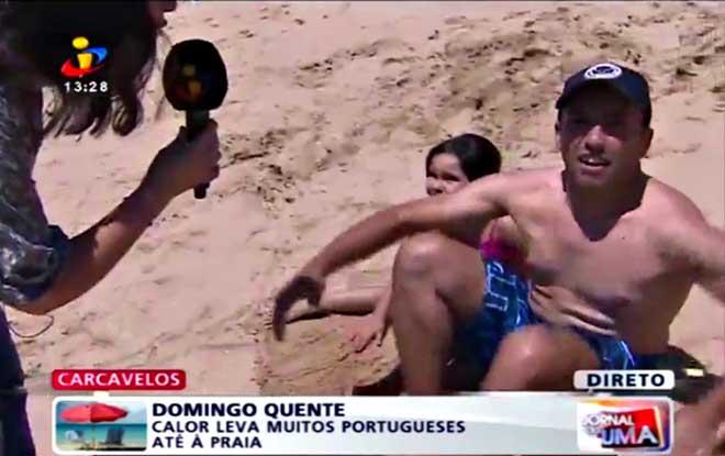 Este banhista português deu uma entrevista incrível para o telejornal da Tvi! Vais adorar!