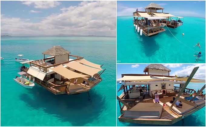 Um paraíso flutuante que parece ter saído diretamente de um sonho!