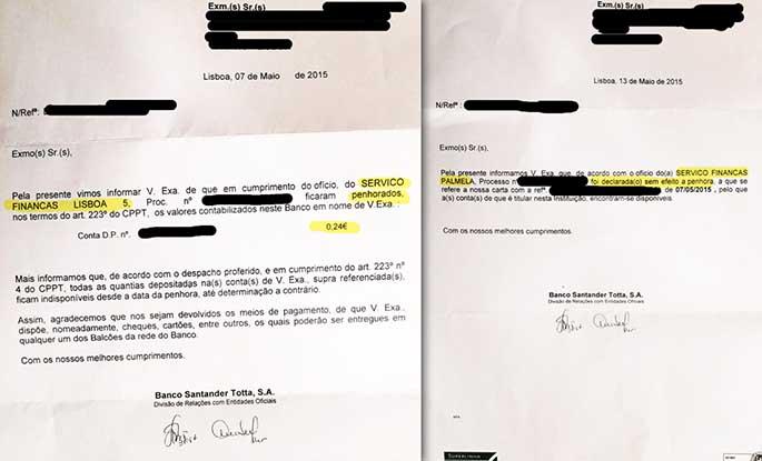 Finanças penhora conta bancária por 24 cêntimos! Só mesmo em Portugal!