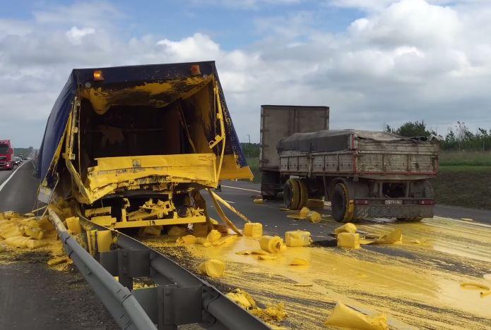 Nunca deves ir atrás de um camião carregado de tintas! Porque será?