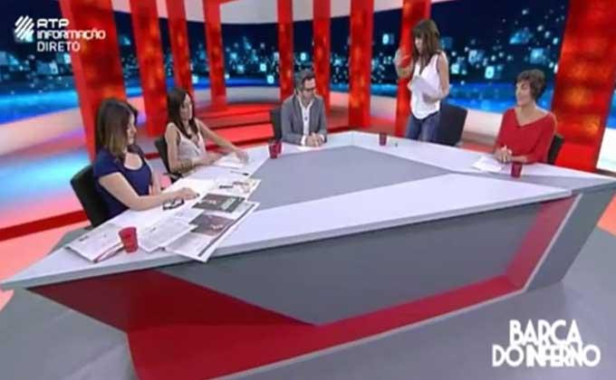 Escândalo em direto na televisão portuguesa! Manuela Moura Guedes revolta-se!