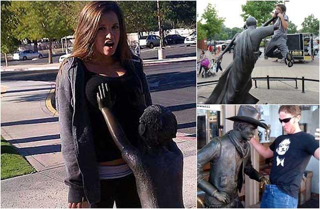 Fotos impressionantes e criativas de pessoas com estátuas! Vais adorar! Está demais!