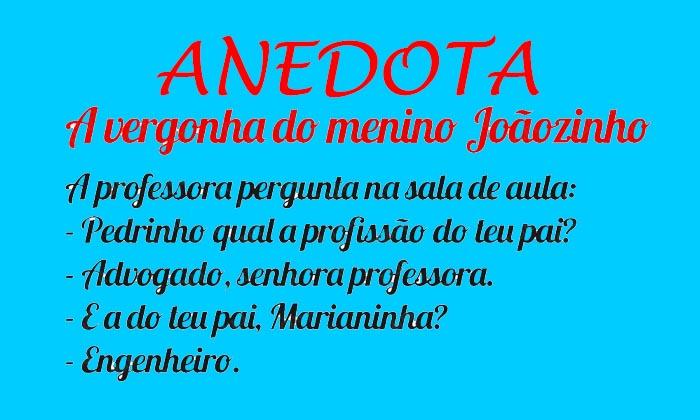Anedota – A vergonha do menino Joãozinho