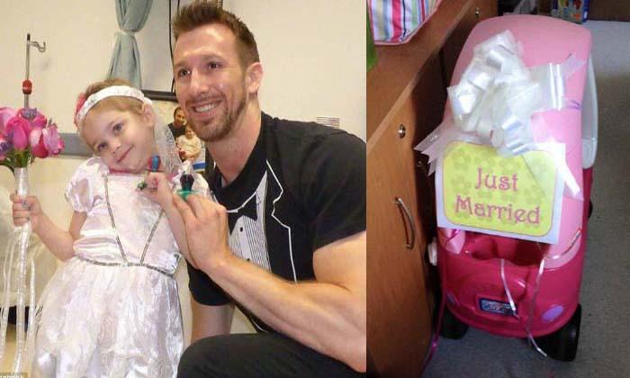 Esta menina com leucemia realizou o seu sonho… Casar com o enfermeiro preferido!