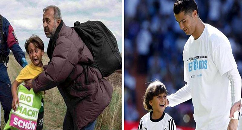 Lembras-te do menino sírio que foi rasteirado por uma jornalista? Vê o que o Ronaldo lhe fez!
