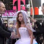 Ele tem 65 anos e ela apenas 12! Eles casam-se no meio de Nova Iorque… O que as pessoas fazem…