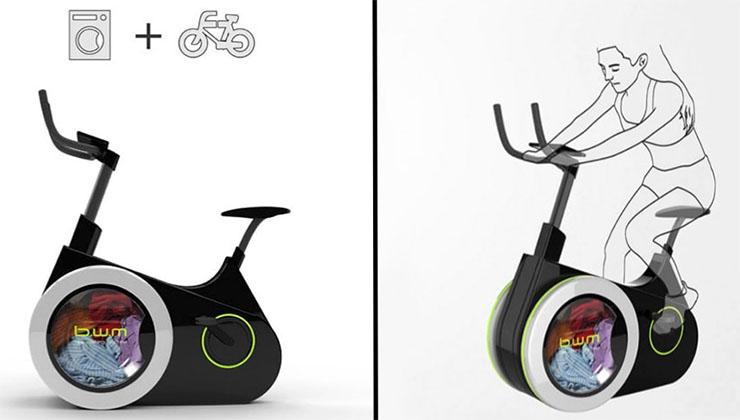 A bicicleta que sempre desejaste! Lava as roupas enquanto fazes exercício!