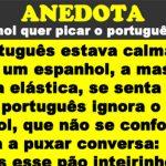 O espanhol quer picar o português, mas…