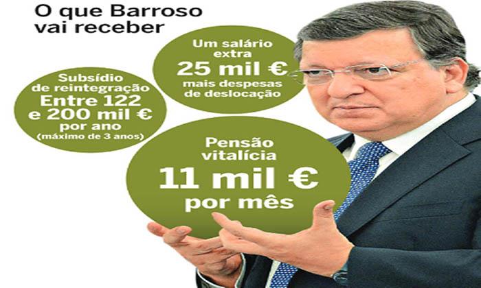 Os valores que Durão Barroso ganha após deixar a Comissão Europeia! É vergonhoso!