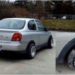 Este carro parece ter umas rodas estranhas, mas espera até veres o que ele é capaz de fazer…