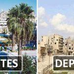 As fotografias que mostram o antes e o depois da guerra na maior cidade da Síria!