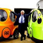 Este carro utiliza ar em vez de combustíveis ou eletricidade! E funciona na perfeição!