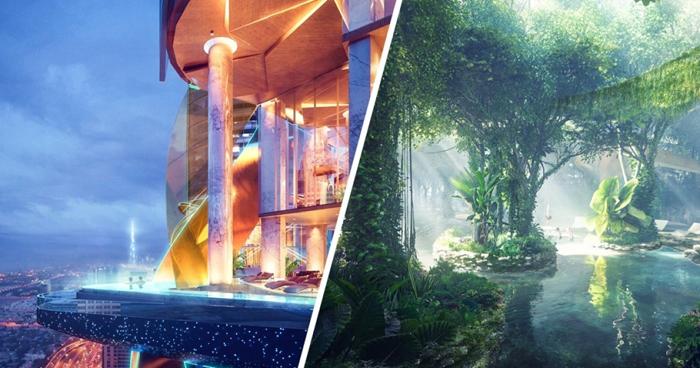 Neste hotel, em vez de vasos com plantas, há uma floresta tropical!!