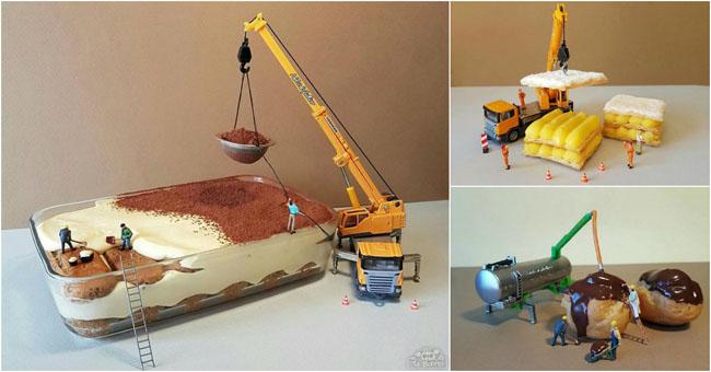 Este chef de pastelaria cria mundos em miniatura apenas com sobremesas! Vai deixar-te de boca aberta!