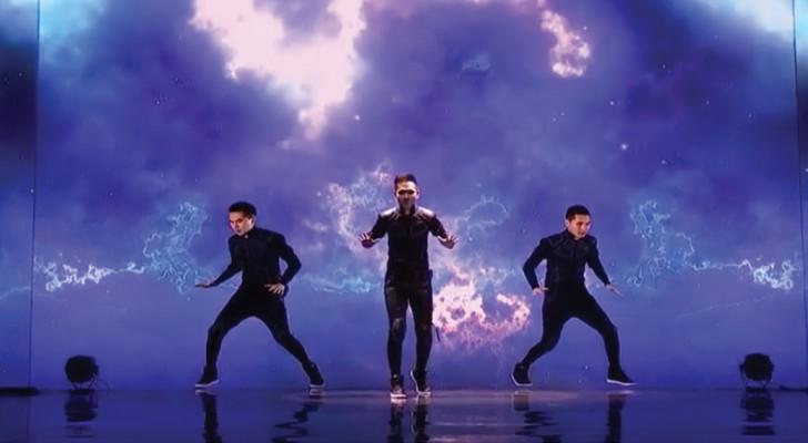 A coreografia que este jovem apresenta é uma obra prima que está a encantar toda a gente!