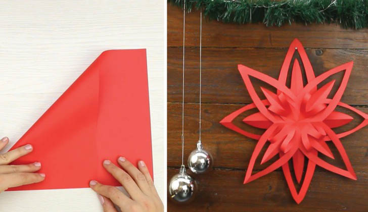 Como fazer uma linda e magnífica estrela decorativa com uma simples técnica! Todos vão conseguir fazer!