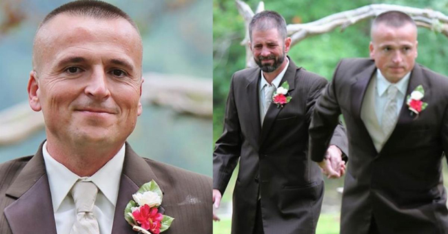 Durante o casamento este homem de barba foi puxado pelo pai da noiva, e a seguir… As imagens estão a emocionar o mundo inteiro!