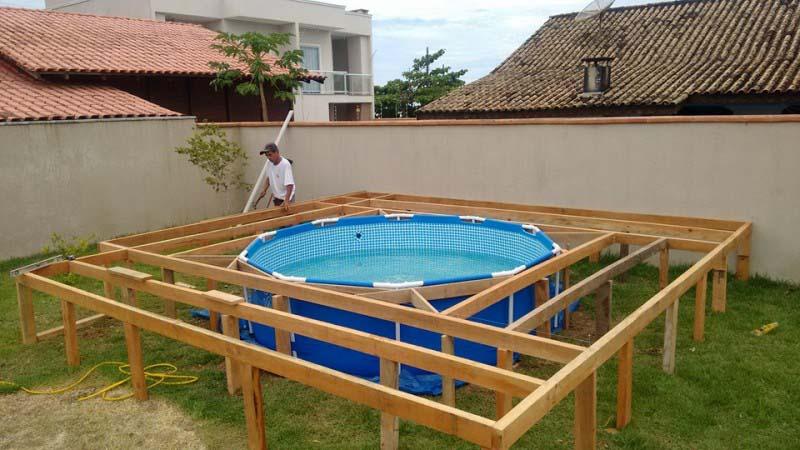 Ele n o tinha dinheiro para construir uma piscina ent o for Lonas para piscinas baratas