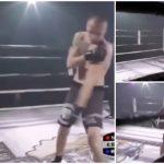 Lutador deslocou ombro durante um combate e recebeu uma ajuda inesperada para continuar. Confere o momento!