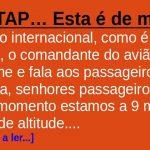 Num voo da TAP… Esta é de morte!
