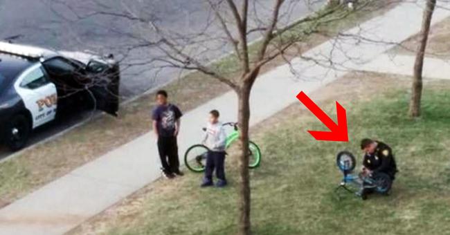 Este polícia não fazia ideia de que estava a ser filmado… O que foi captado pela câmera está a correr o mundo!