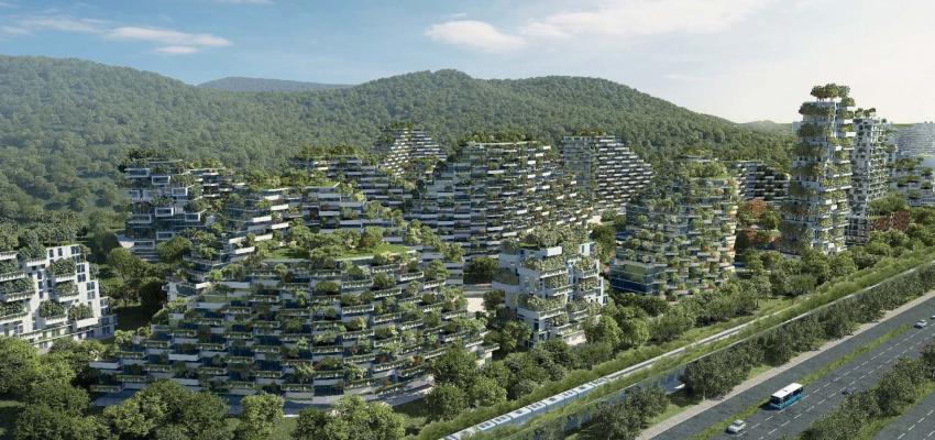 China avança com um impressionante projecto de cidade florestal para travar a poluição!