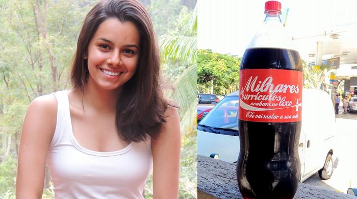 Jovem brasileira colocou o currículo numa garrafa de Coca-Cola e… Vejam o que aconteceu!