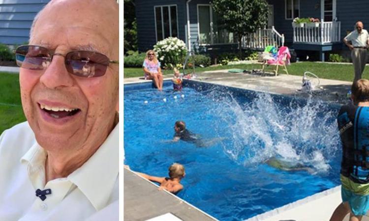 Este idoso de 94 anos mandou instalar uma piscina em casa… A razão está a emocionar o mundo inteiro!
