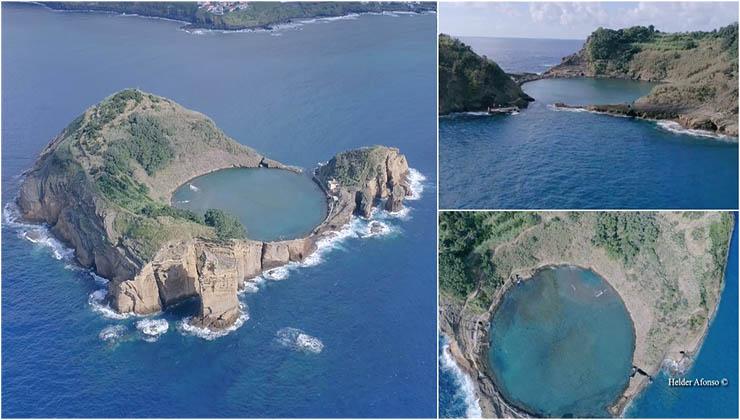 O ilhéu de sonho nos Açores com uma praia no interior que está a impressionar o Mundo!
