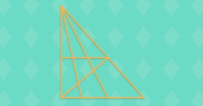 Consegue descobrir quantos triângulos há nesta imagem? Só os mais inteligentes vão conseguir!