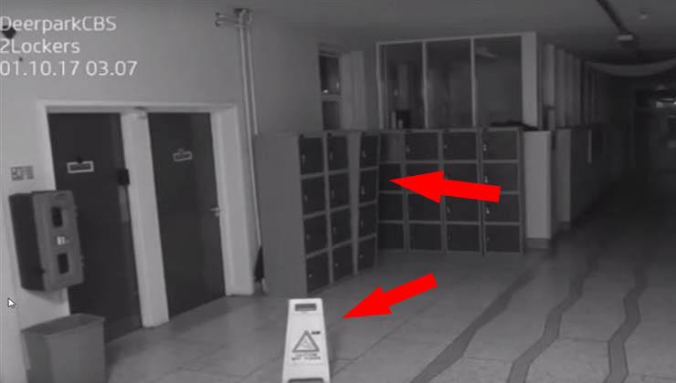 Vídeo assustador captado nesta escola pela câmara de segurança está a aterrorizar toda a população!