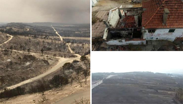 Videos aéreos arrepiantes mostram a destruição provocada pelos incêndios nos últimos dias! É desolador!