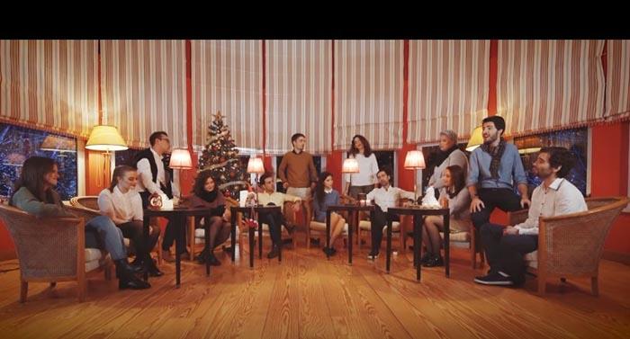 """É incrível o Medley de Natal a Cappella que o grupo portugês """"Contraponto"""" fez! Tens de ouvir…"""
