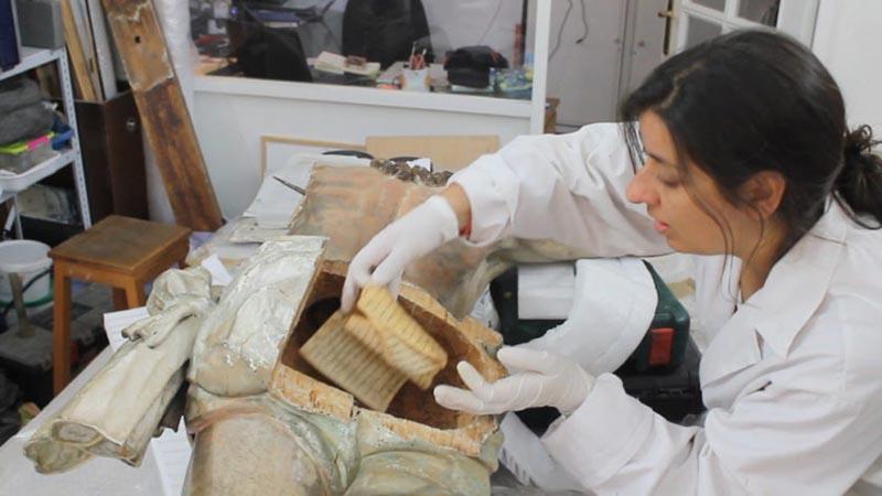 Restauradores encontraram manuscrito escondido numa estátua de Jesus Cristo com mais de 300 anos