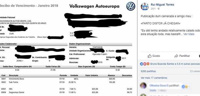 """""""Farto disto, já chega"""" – A publicação viral de trabalhador da Autoeuropa!"""