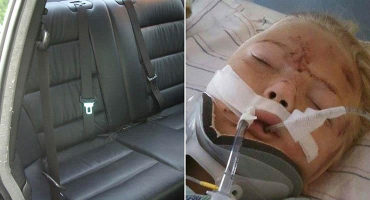 A filha dá um enorme grito no banco de trás do carro… Agora a mãe alerta o mundo inteiro sobre este perigo inesperado!