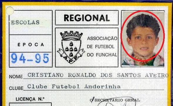 Fotos raras de Cristiano Ronaldo que provavelmente não viste
