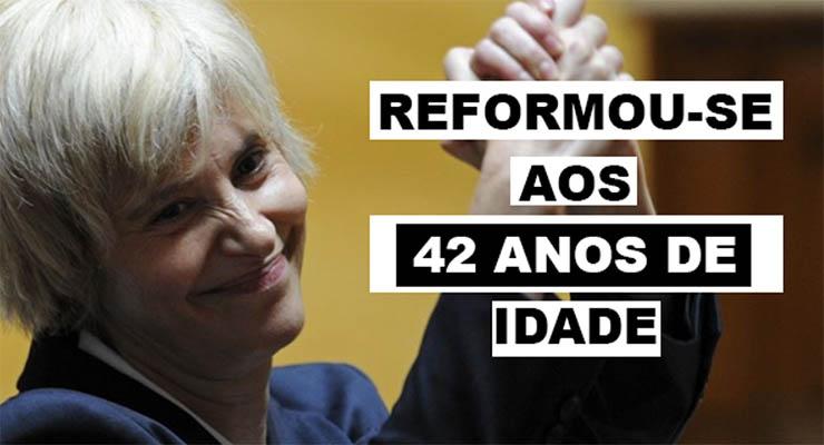 Assunção Esteves com 10 anos de serviço tem direito a reforma superior a 7 mil euros!