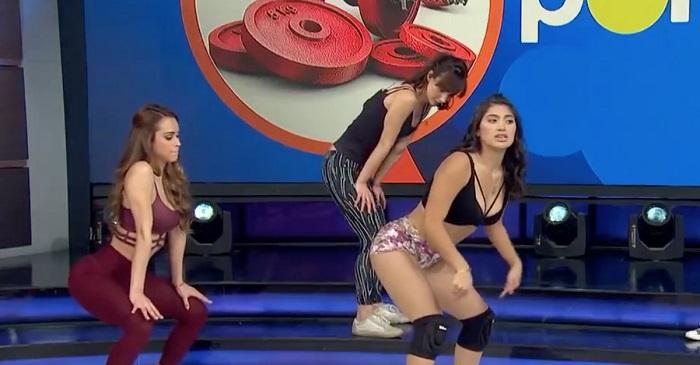 Professoras de dança deixam apresentador maluco com a sua mini aula de Twerk