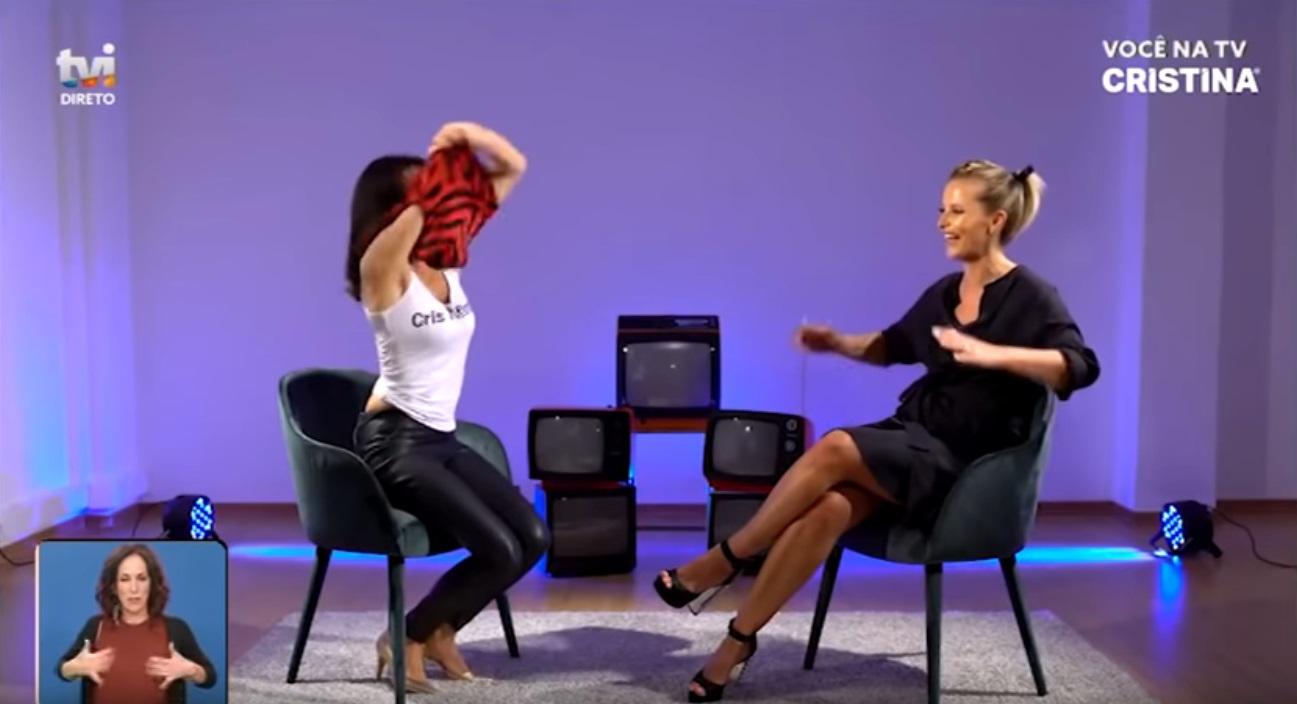 Cristina Ferreira é surpreendida por Filomena Cautela com beijo na boca