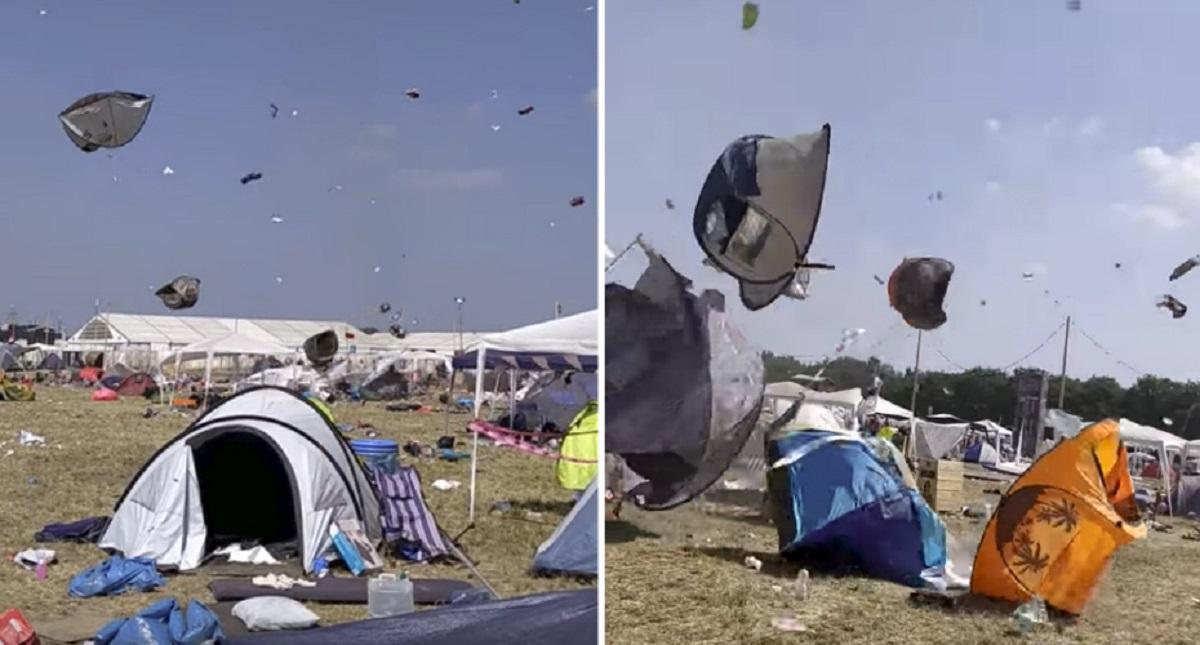 Festival de música electrónica termina com tendas a voar…