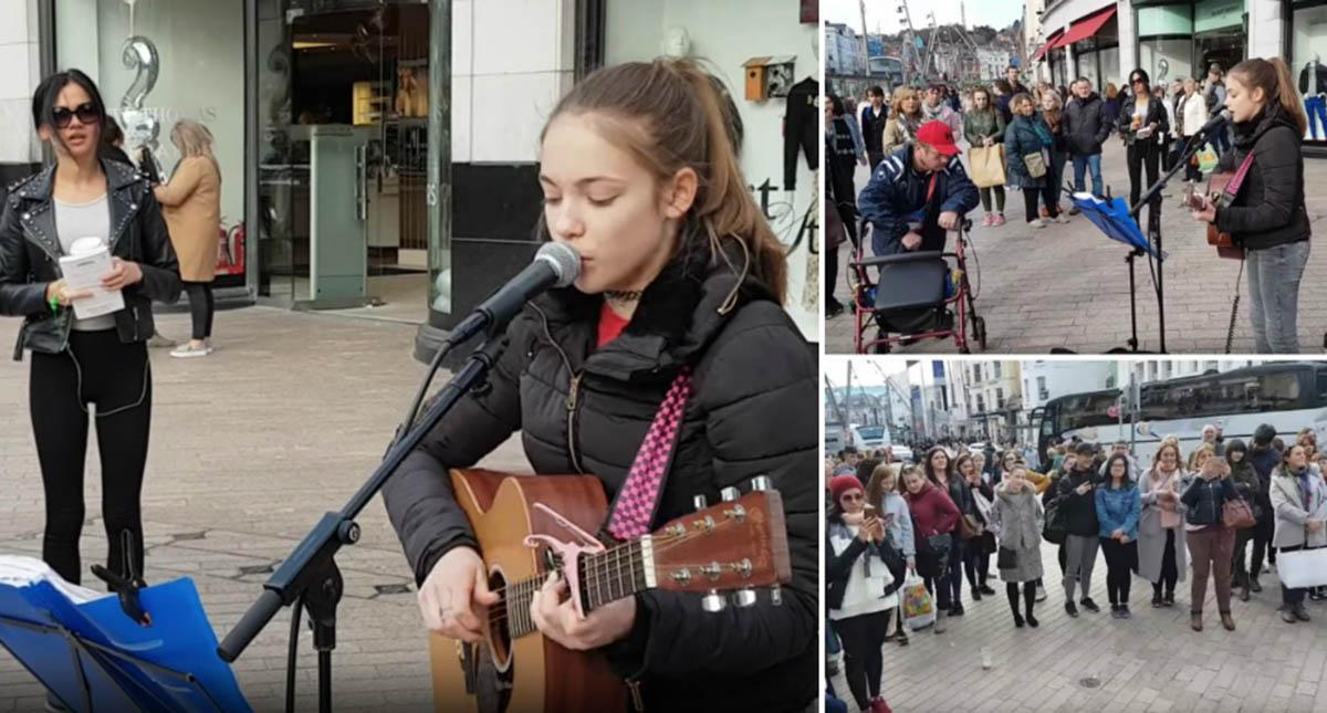 "Artista de rua de 13 anos canta forma impressionante ""Hallelujah"" de Leonard Cohen"