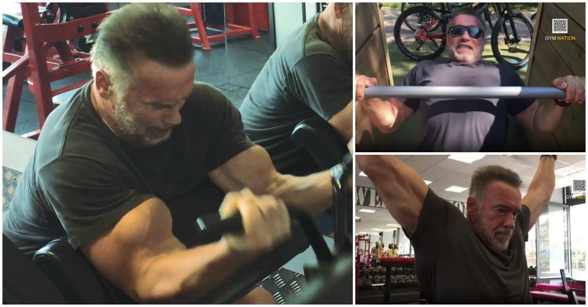 Aos 71 anos Arnold Schwarzenegger continua a treinar como um jovem!