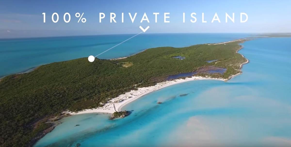 A maior ilha privada das Bahamas está a venda…